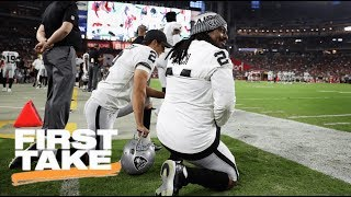 Michael Bennett And Marshawn Lynch Sit During National Anthem   First Take   ESPN