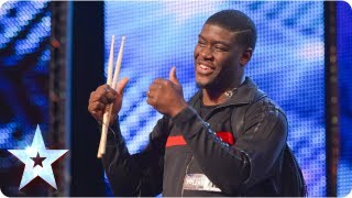 MckNasty DJ's and drums at the same time!   Week 4 Auditions   Britain's Got Talent 2013