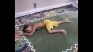 Funny Videos : Children playing WWE in home