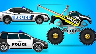 Police Chase Police car in the mud   Car Wash   Garage Car for Kids   my little tv