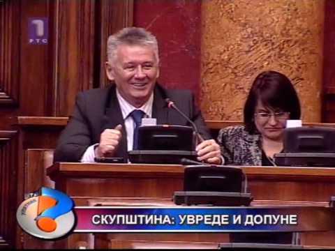 Skupština Srbije psovke i prozivke