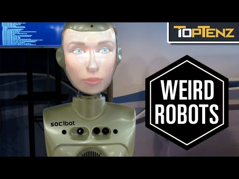 Top 10 CREEPY Real Life ROBOTS