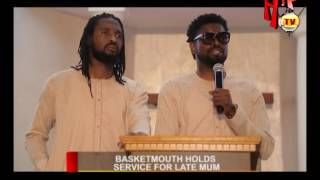 BASKETMOUTH HOLDS SERVICE FOR LATE MUM