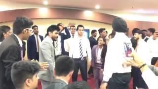 Ashish Singh Jaysoor and sardar harbhajan singh dance at eBIZ house.