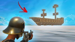 BUILDING THE WORLD'S BIGGEST PIRATE SHIP In Fortnite Battle Royale!