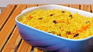 Indian Curry Rice with Raisins - Vegan Vegetarian Recipe
