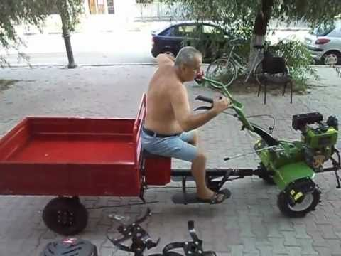 Motocultor Diesel AGR 6CP cu remorca