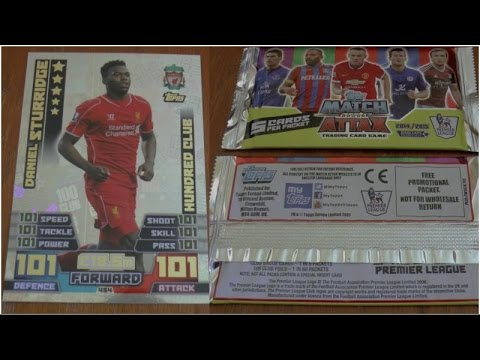 STURRIDGE 101 101 ☆ Topps MATCH ATTAX Premier League 2014 2015 Trading Cards ☆ 10x PACKS OPENED