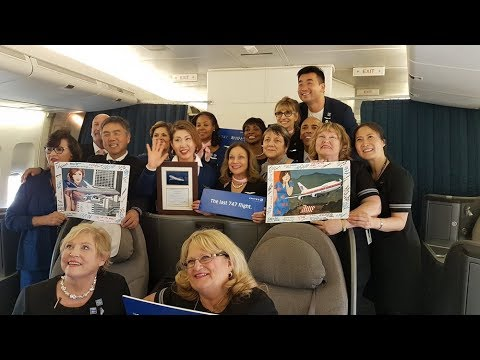 The Last United Boeing 747 International Flight