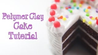 Miniature Food Tutorial: Polymer Clay Cake with Rainbow Sprinkles