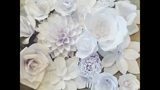 Creating a Paper Flower Backdrop: Flower 1