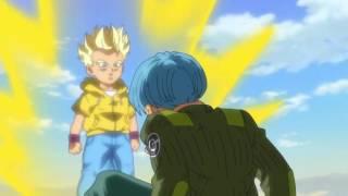 kid trunks vs future trunks | Dragon Ball Super Episode 59 | English Sub