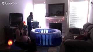 COMFORTABLE & NATURAL Hypnobabies Water Birth At Home