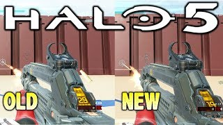 Halo 5 - Old vs New Weapon Tuning Comparison