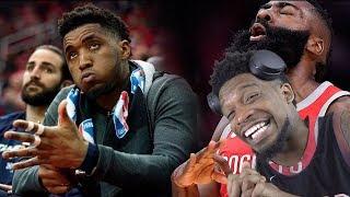 HARDEN'S GOATING MITCHELL'S CHOKIN! ROCKETS vs JAZZ GAME 1 & 2 NBA PLAYOFFS 2019 HIGHLIGHTS