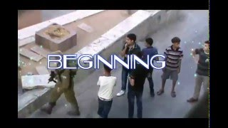 Israeli soldiers attacked a Palestinian youth on the beat