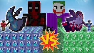 ŞANS BLOKLARI VS JOKER & DEADPOOL (Minecraft)
