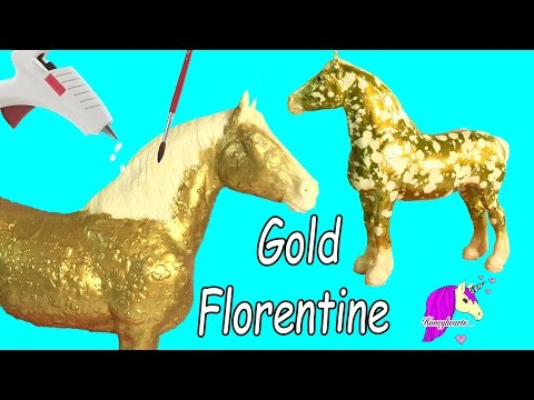 How To Make Custom Breyer Gold Florentine Horse   Do It Yourself Melting Wax + Painting Craft Video