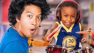You wont believe this 4 YEAR OLD Drummer from Ellen!