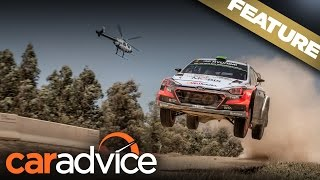 Helicopter versus Hyundai i20 World Rally Car | A CarAdvice Feature