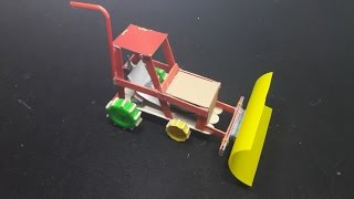 Cómo hacer un bulldozer Dozer motorizado muy simple