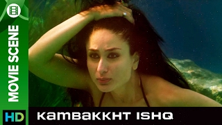 Kareena loves to swim | Kambakkht Ishq | Movie Scene