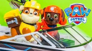 PAW PATROL NickelodeonThe Sea Monster Treasure  Remote Control Boat Toys Video Parody
