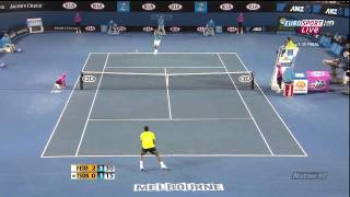Federer vs Tsonga Australian Open 2010 highlights 2/2 HD