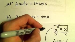 Solving a Trigonometric Equation by Factoring, Example 2