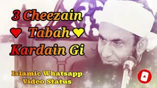 3 Cheezain Tabah Kardain Gi ❤️ Maulana Tariq Jameel Bayan Whatsapp Status Video ❤️