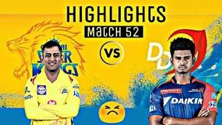 Delhi Daredevils vs Chennai Super Kings - Match 52   Highlights   IPL 2018   csk vs dd   win ??