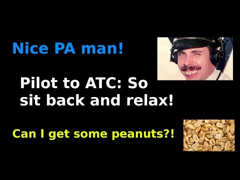watch Pilot makes PA to ATC by mistake!