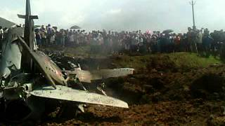 Aeroplane crash at Bisoi MAYURBHANJ