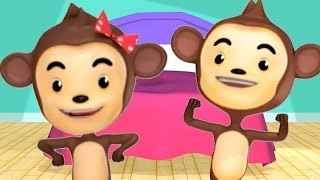 Five Little Monkeys Jumping On The Bed | Kids Songs To Dance To by Raggs TV Kids Dance Songs