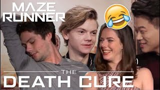 Maze Runner Cast: Death Cure Bloopers | try not to laugh..