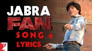 Jabra Fan Lyrics Song | Shah Rukh Khan | Jabra Fan Song Lyrics | FAN Lyrics