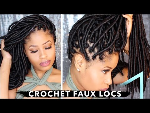 How To ➟ CROCHET FAUX LOCS 🔥 NO cornrows NO wrapping free parting