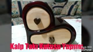 Heart Shape Bandsaw box - reclaimed wood step by step build. Kalp Takı Kutusu Yapımı.