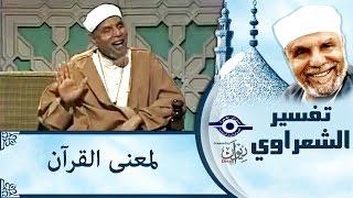 الشيخ الشعراوي | تفسير لمعنى القرآن