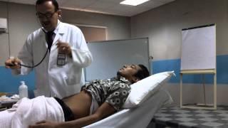 Abdominal examination Part I ( inspection + auscultation + percussion)