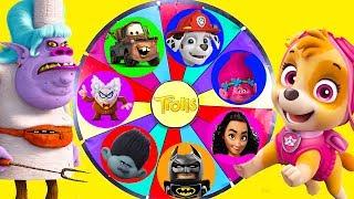 Trolls Movie Mega Wheel Game with Paw Patrol and Moana Surprise   Ellie Sparkles