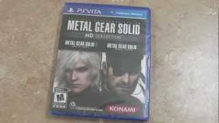 METAL GEAR SOLID HD COLLECTION UNBOXING! (PS VITA)