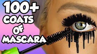 HOW MANY COATS ARE IN ONE MASCARA TUBE?! LETS FIND OUT! EP1 *NEW SERIES* 100+ coats!