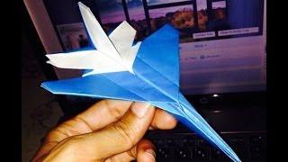 origami plane اوریگامی هواپیما اف شانزده