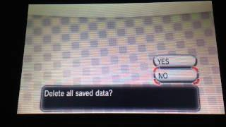 How to start a new game in Pokemon X and Y (Gen 6)