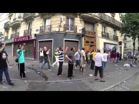 Manifestation pro Palestine dégénère  Violents affrontements   Paris   France 19 juillet 2014