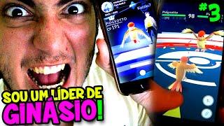 POKÉMON GO #3 - PRIMEIRA BATALHA DE GINÁSIO ! VENCI E VIREI LÍDER ! :O (c/ Wuant)