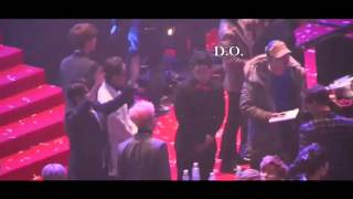 160217 BTS JIN& EXO D.O.  INTERACTION!