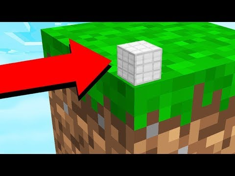 ESCAPING THE WORLDS SMALLEST MINECRAFT CUBE