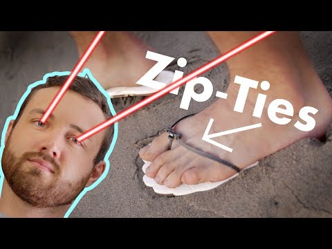 Making Sandals with Zip Ties and a Laser